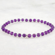 Dark Amethyst Stretch Bracelet