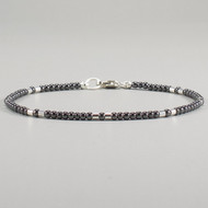 Hematite Bracelet Ultra Delicate Sterling Silver