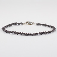 Raw Black Diamond Bracelet Sterling Silver