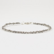 Raw Gray Diamond Bracelet Sterling Silver