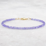 Tanzanite Bracelet 14k Gold Filled 3mm Rondelles