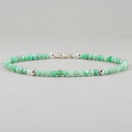 Chrysoprase Bracelet Sterling Silver Shaded