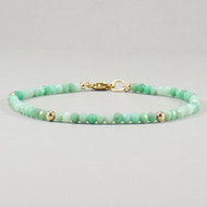 Chrysoprase Bracelet 14k Gold Filled Shaded