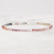 Mulit Color Spinel Bracelet Sterling Silver
