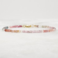 Multi Color Spinel Bracelet 14k Gold Filled