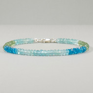 Multi Color Apatite Bracelet Sterling Silver