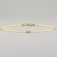 Ultra Delicate Ethiopian Opal Bracelet 14k Gold Filled