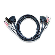 Aten 3m DVI KVM Cable with Audio to suit CS178x, CS178xA, CS164x, CS176xA, CS1768, CL6700, CM0264