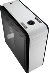 Aerocool DS 200 - Black / White Edition Mid Tower Case w/ Window