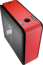 Aerocool DS 200 - Red Edition Mid Tower Case w/ Window