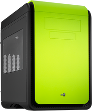 Aerocool DS Cube - Green Edition w/Window - mATX / Mini ITX Case