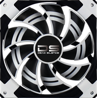 Aerocool DS Fan 12cm-White w/ LED, Dual Material, Fluid Dynamic Bearing, Noise Reduction