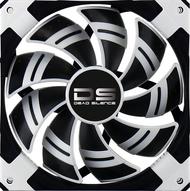 Aerocool DS Fan 12cm-White w/ LED, Dual Material, Fluid Dynamic Bearing, Noise Reduction