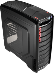 Aerocool GT-A-Black Mid Tower Case,2x12cm FAN Ctrl,1xUSB3.0, 2xUSB2.0,HD Audio, HDD Dock