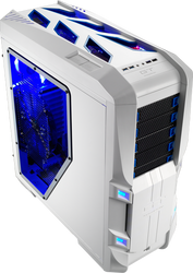 Aerocool GT-S-White Full Tower Case w/ Window,2x20+14cm FAN Ctrl,2xUSB3.0, 2xUSB2.0,HD Audio