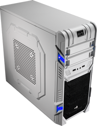 Aerocool GT Advance-White Mid Tower Case,2x12cm FAN,1xUSB3.0, 1xUSB2.0,HD Audio