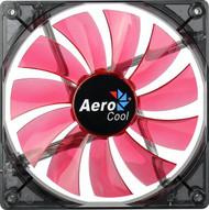 Aerocool Lightning Fan 14cm-Red w/ LED, 11-Blade Design, 48.0CFM, 22.0DBA