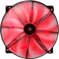 Aerocool Lightning Fan 20cm-Red w/ LED, 13-Blade Design, 58.0CFM, 16.5DBA