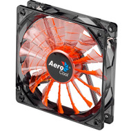 Aerocool Shark Fan 12cm-Orange w/ LED, 15-Blade Design, Fluid Dynamic Bearing, Noise Reduction