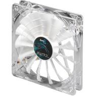 Aerocool Shark Fan 12cm-White w/ LED, 15-Blade Design, Fluid Dynamic Bearing, Noise Reduction