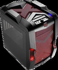 Aerocool Strike-X Cube-Red Gaming Case, mATX/Mini ITX , 20+14cm FAN Ctrl, 2xUSB3.0, HD Audio