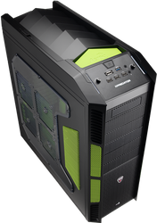 Aerocool Xpredator Evil Green Edition Full Tower Gaming Case