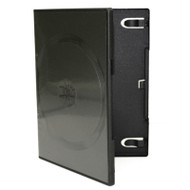 Double Disc 14mm Black CD/DVD case – 5pcs in a pack