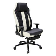 DXRacer CB120 Classic Series Gaming Chair Lumbar Support w/Leg Rest - Black & White