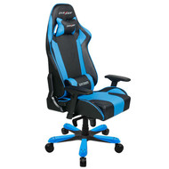 DXRacer King Series Gaming Chair, Neck/Lumbar Support - Black & Blue