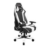 DXRacer King Series Gaming Chair, Neck/Lumbar Support - Black & White