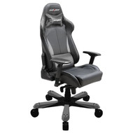 DXRacer King Series Gaming Chair, Neck/Lumbar Support - Black & Carbon Grey
