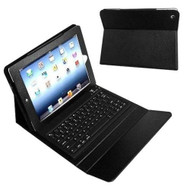 8ware iPad Case Folio with Bluetooth Keyboard with Car Charger, Cable, Stylus & Screen Protector