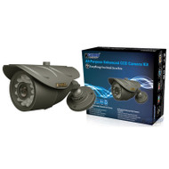 KGUARD CW225H CCD Camera, (1/3' Sharp Color CCD, 540TVL, 24LEDs (20M), Weatherproof 3.6mm)