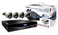 KGUARD Easy Link 422 Kit - Includes 4 CH DVR, 4 Cameras, 1TB HDD - with QR Code Function and Cloud Backup