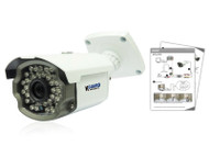 KGUARD HW113F 1000TVL Outdoor Bullet Camera with Auto Track, 65 degrees viewing angle, IR 30M