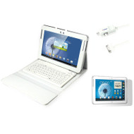 mBeat Folio Accessory Kit for Samsung Galaxy Note 10.1 - White Edition