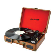 Retro Briefcase-styled Turntable Recorder with USB Direct Recording