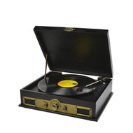 mBeat Vintage wood turntable with Bluetooth SPK/AM/FM