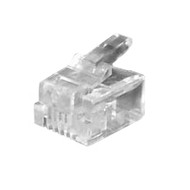 RJ11 Modular Plug 6P4C Each (10pcs per unit)