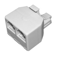 RJ11 Double Adapter 6P4C