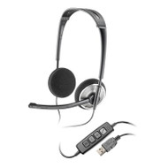 Plantronics Audio478 DSP USB Folding Stereo Headset, Skype Certified w/ Calls Control, Carry Pouch