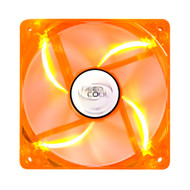 Deepcool Case Fan 120x120x25mm Orange Transparent Frame with Green LED