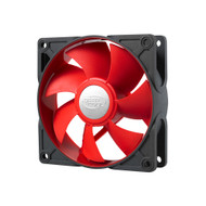 Deepcool Ultra Silent 92mm x 25mm Ball Bearing Case Fan with Anti-Vibration Frame PWM, RED