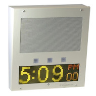 Large Square IP Clock / Intercom with Signal Lights