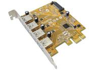 Sunix USB4300NS PCIE 4-Port USB 3.0 Card (SATA power connector)