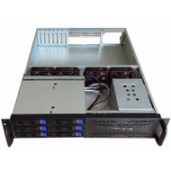2U 6-Bay Hotswap Server Chassis - 650MM Deep