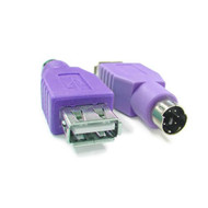 USB to PS2 Male Converter for Keyboard Purple