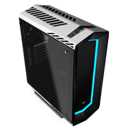 Aerocool P7-C1 USB 3.0, 7 Color LED Front panel & Tempered Glass left side pane Mid Tower Case - White