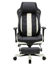 DXRacer CE120 Classic Series Gaming Chair Lumbar Support with Leg Rest - Black & White