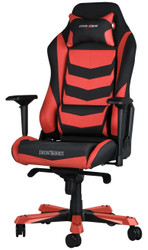DXRacer Iron Series Gaming Chair, Neck/Lumbar Support – Black & Red